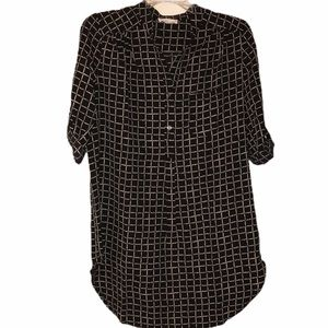 Misia Shirt Dress in Black with Tan - Size Small